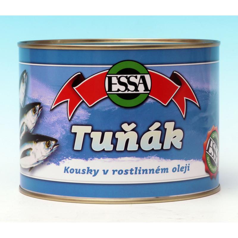 Tuňák v oleji kousky plech 1705g