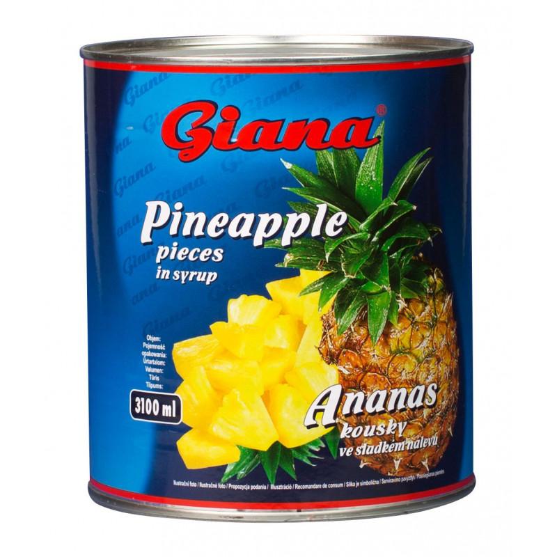 Ananas kousky 3000ml