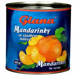 Mandarinky celé dílky 2650ml