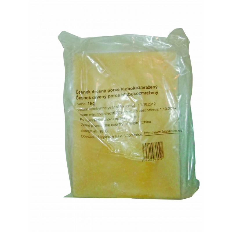 Česnek drcený  mražený blok 1kg