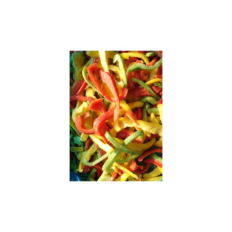 Paprika 3 mix proužky mražená 2,5kg