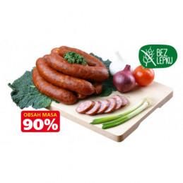 Valašská klobása 90% masa cca 1,5kg