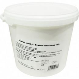 Tvaroh měkký odtučněný 5 kg PVC kbelík