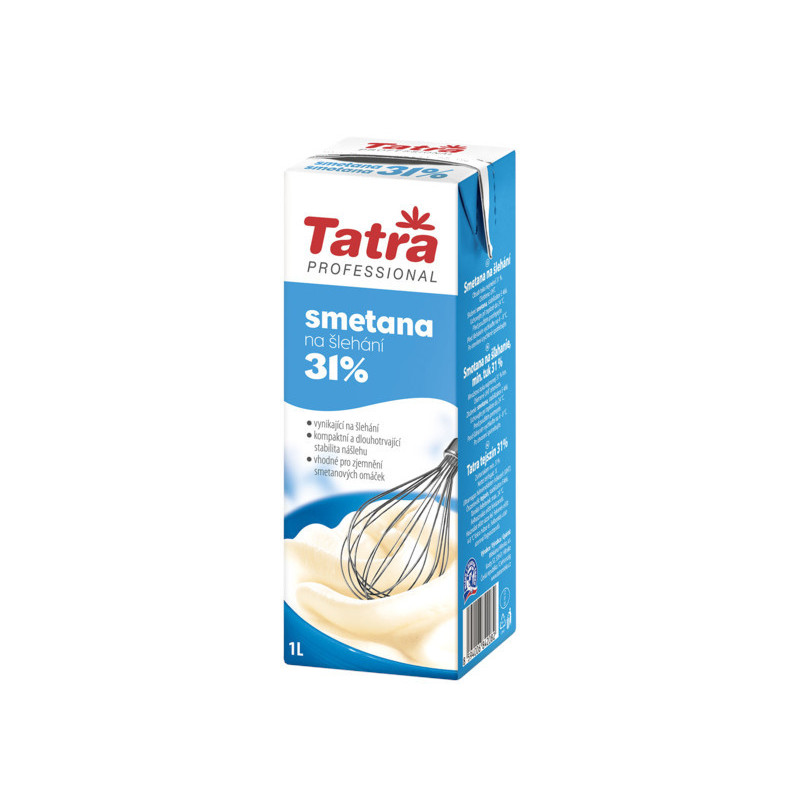 Smetana ke šlehání 31 % živočišná 1 L Tatra