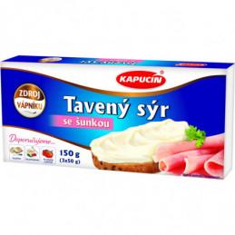 Kapucín tavený sýr 3x50 g šunkový
