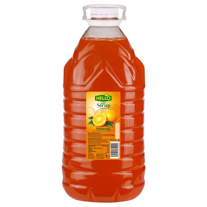 Sirup Hello pomeranč 6,5 kg PET 5 L