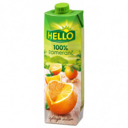Džus Hello 100% pomeranč 1 L