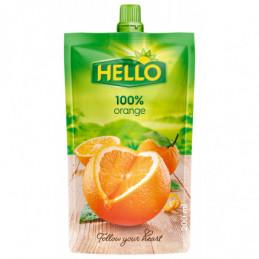 Džus Hello 100% pomeranč 200 ml kapsička